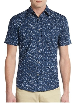 James Campbell - Regular-Fit Floral-Print Cotton Sportshirt