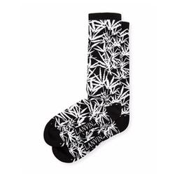 Lanvin  - Jungle Leaf Wool Jacquard Socks