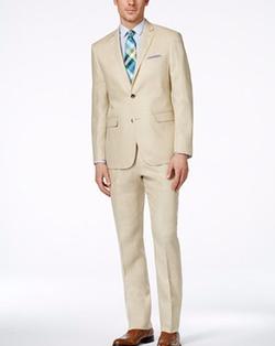 Perry Ellis - Tan Slim-Fit Suit