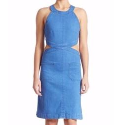 Stella McCartney  - Cutout Denim Dress