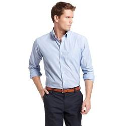 IZOD  - Solid Button-Down Shirt