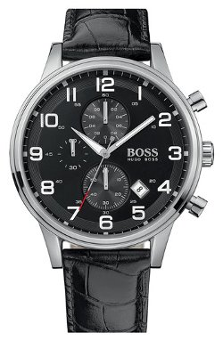 Boss Hugo Boss  - Leather Strap Chronograph Watch