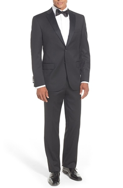 David Donahue - Classic Fit Loro Piana Wool Notch Lapel Tuxedo