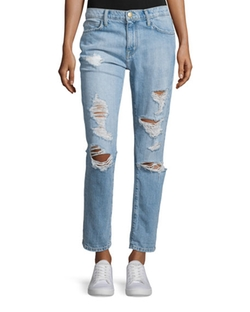 Current / Elliott - The Fling Distressed Ankle Jeans
