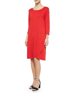 Joan Vass - 3/4-Sleeve Shift Dress
