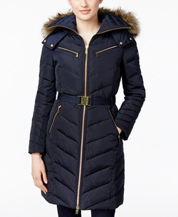 Michael Kors - Chevron Belted Down Coat
