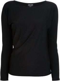 Giorgio Armani  - Draped Long Sleeve T-shirt