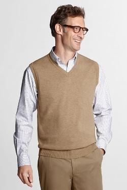 Lands End - Soft Rayon Blend Sweater Vest