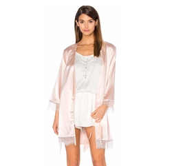Homebodii - Mila Lace Trim Robe