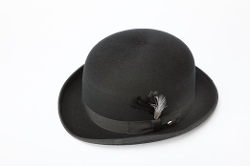 New Era Factory Outlet - Wool Black Derby Bowler Hat