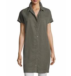 Eileen Fisher - Short-Sleeve Boxy Shirtdress
