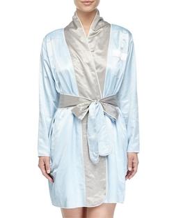 Louis At Home - Riviera Satin Short Robe