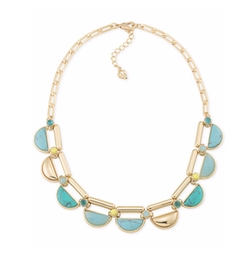 Carolee - Gold-Tone Multicolor Stone Choker Necklace