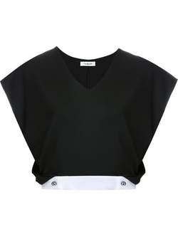 Mugler - Cropped V-Neck Top