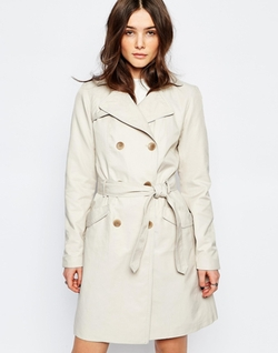 Only - Longline Belted Trench Coat