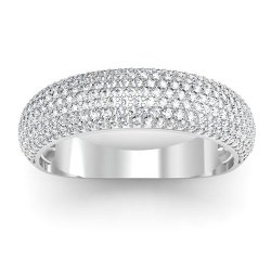 DazzlingRock Collection  - Round Diamond Anniversary Wedding Band Ring