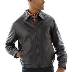 Excelled - Nappa Leather Self Elastic Bomber Jacket