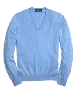 Brooks Brothers - Lightweight Cashmere V-Neck Sweater