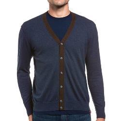 Agave Denim  - Nevada Melange Cardigan Sweater - Fine Gauge Supima Cotton