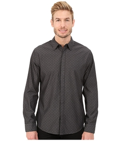 DKNY Jeans  - Long Sleeve Yarn Dye Dobby Dot Shirt