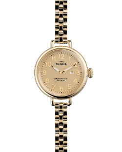 Shinola - Gold-Tone Birdy Watch