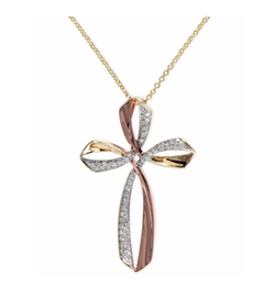 Effy Collection - Pave Rose By Effy Diamond Triple Cross Pendant