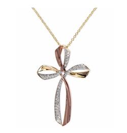 Effy Collection - Pave Rose By Effy Diamond Triple Cross Pendant