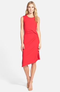 Michael Michael Kors - Side Drape Crewneck Knit Dress