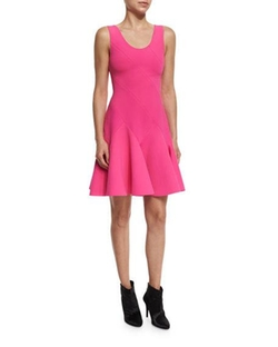 10 Crosby Derek Lam - Sleeveless Fit-and-Flare Ponte Dress