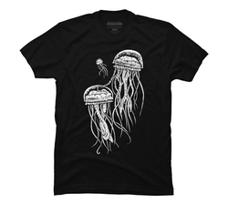 Design By Humans - Glowing Jellyfish T Shirt