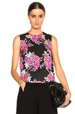 Msgm - Floral Print Top
