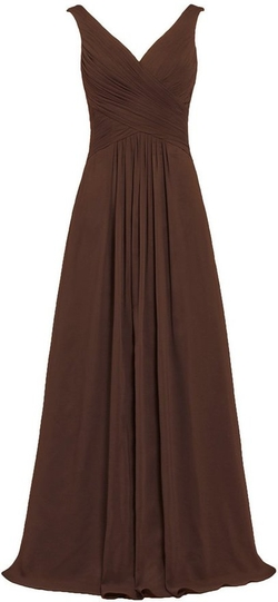 Ants - V Neck Chiffon Gown
