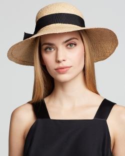 Aqua - Ribbon Bow Straw Hat