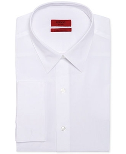 Alfani RED  - Fitted Solid Performance French Cuff Shirt