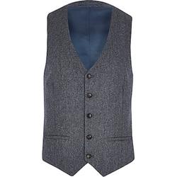 River Island - Herringbone Wool-Blend Vest