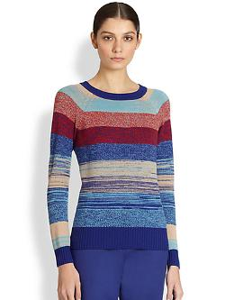 St. John  - Wool Mixed Stripe Sweater
