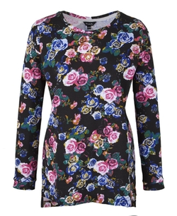 SimplyBe - Floral Print Sweat Top