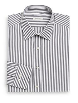 Valentino  - Striped Cotton Dress Shirt/Classic-Fit
