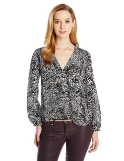 Joie - Animal Print Long Sleeve Blouse