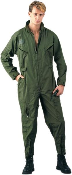 Army Universe - Olive Drab Military Air Force Style Flight Suit Coveralls