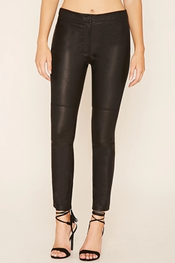 Forever 21 - Faux Leather Panel Pants
