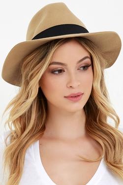 Obey - Sienna Beige Fedora Hat