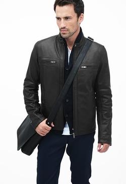 Danier - Hughes Burnished Effect Leather Moto Jacket