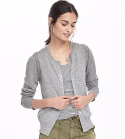 Banana Republic - Open-Front Merino Wool Cardigan