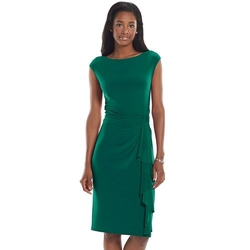 Chaps - Knot-Front Sheath Dress