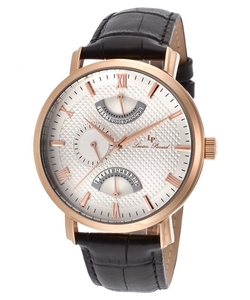 Lucien Piccard - Dual Time Black Strap Watch