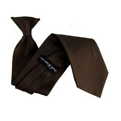 "The Perfect Necktie  - 11"" Solid Color Boys Clip-On Tie"