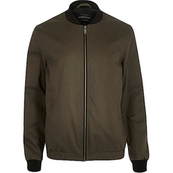 River Island - Casual Contrast Neck Bomber Jacket