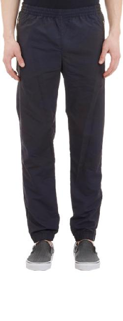 TIM COPPENS  - Leather-Trimmed Jogging Pants
