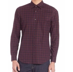 Z Zegna - Check Printed Cotton Shirt
